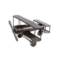 Brunt Antikt Flygplan 25x28x16cm
