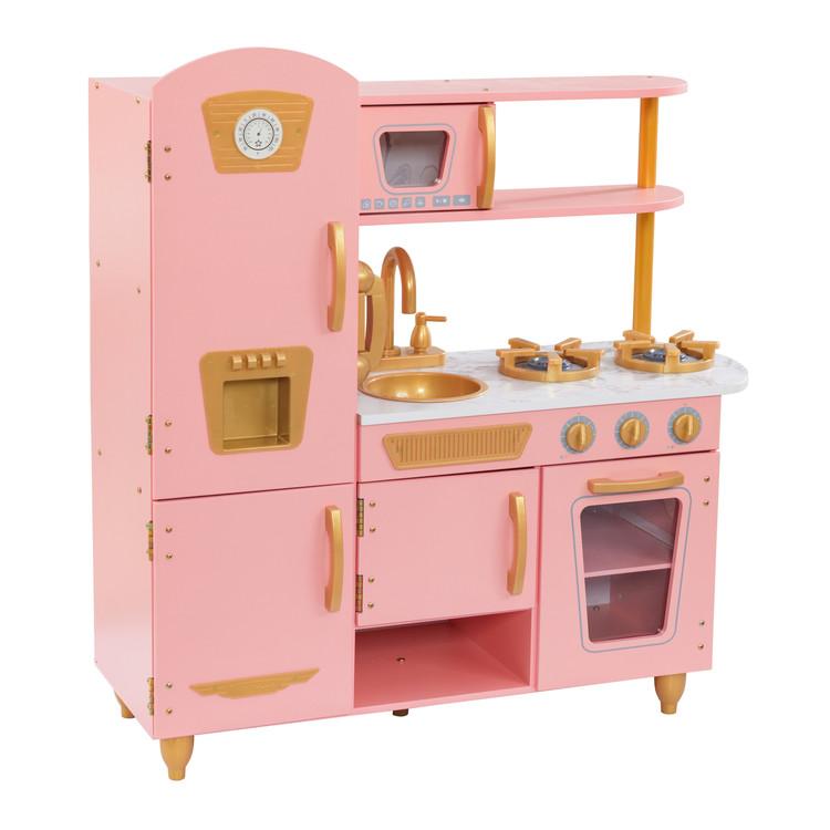 Limited Edition Vintage Kitchen Pink & Gold