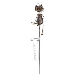 Regnmätare katt i hamrad plåt 159kr