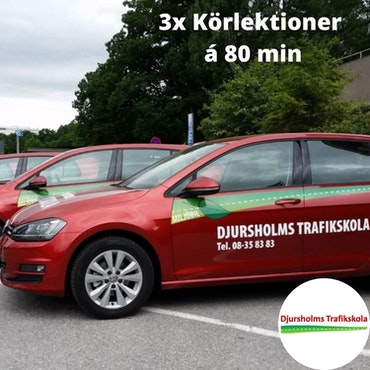 3x Körlektioner på Djursholms Trafikskola Danderyd á 80 minuter!
