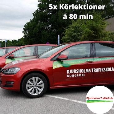 5x Körlektioner på Djursholms Trafikskola Danderyd á 80 minuter!