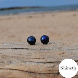 Pärlörhängen med svarta sötvattenspärlor