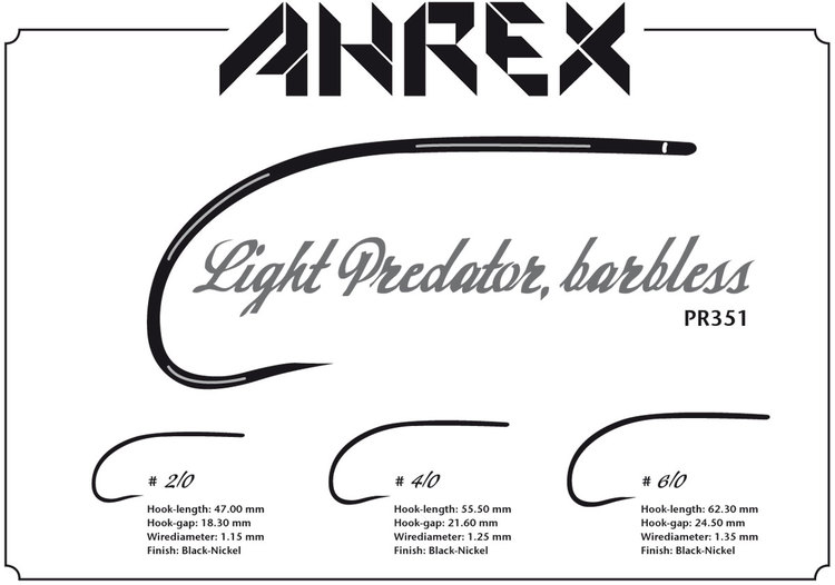 Ahrex PR351 - Light Predator Barbless