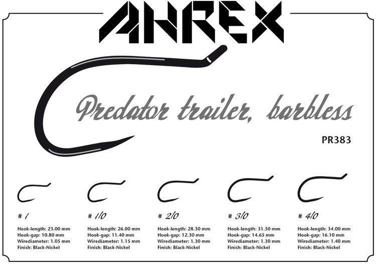 Ahrex PR383- Predator Trailer Hook Barbless