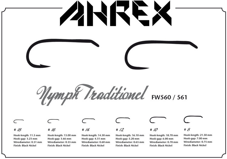 Ahrex FW560 - Nymph Traditional