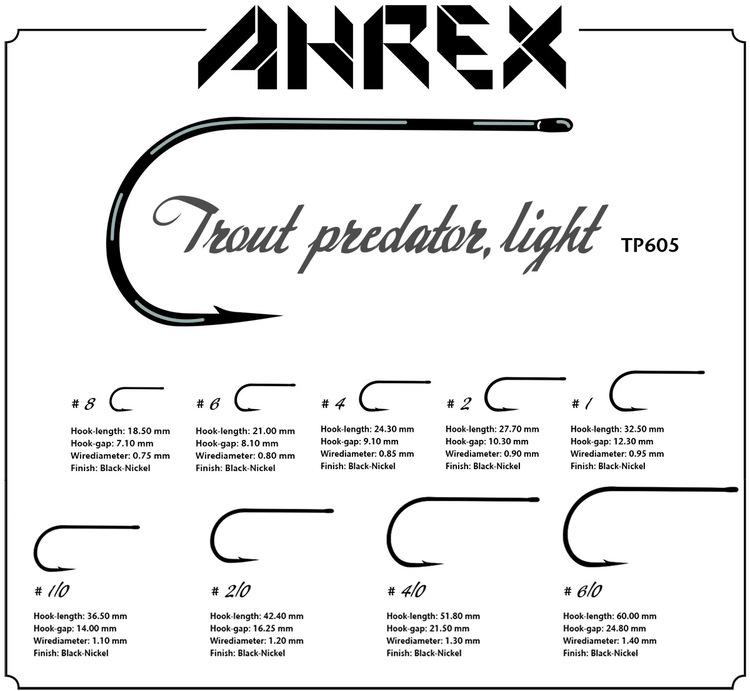 Ahrex TP605 - Trout Predator Streamer Light