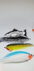 Fiskeshopens 3 Gäddflugor m. ask