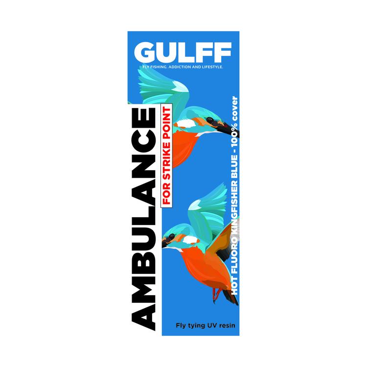 GULFF UV Resin - Ambulance Hot Kingfisher Blue