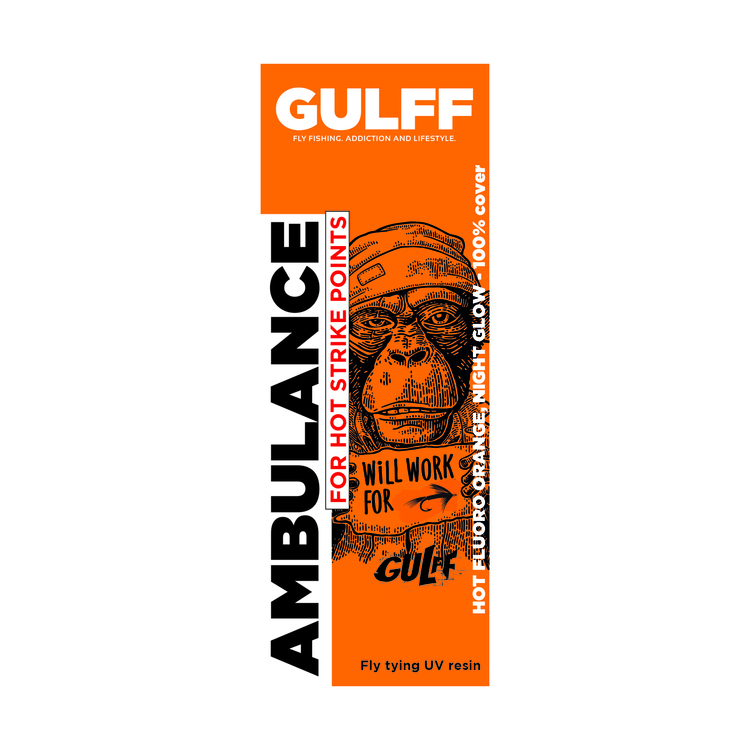 GULFF UV Resin - Ambulance Orange
