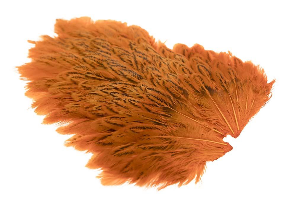 Indian Hen Saddle - Crawdad Orange