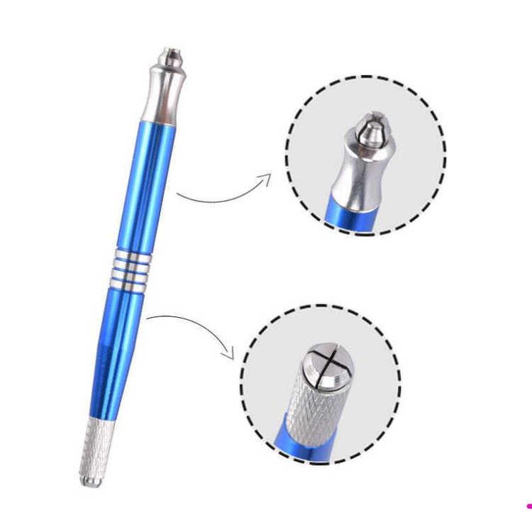 Microbladingpenna/skaft med dubbla huvud