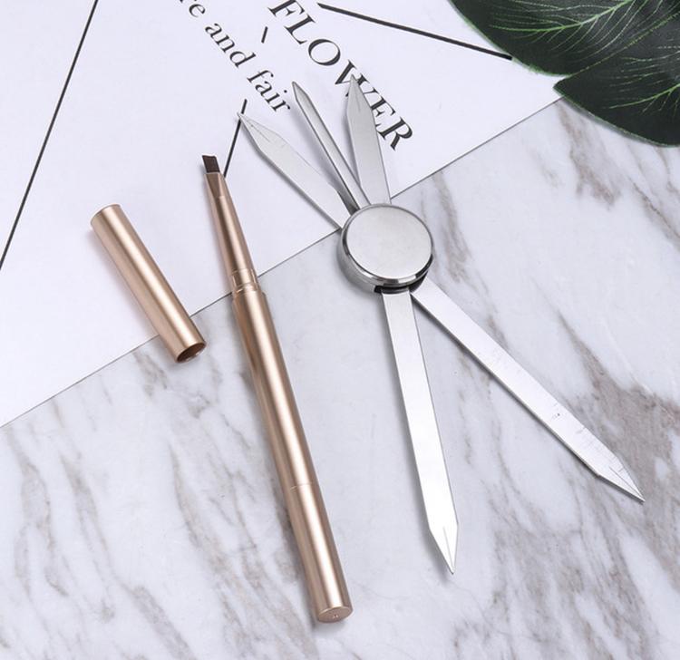 NY! Kompass till ögonbrynsmättning + penna med borste