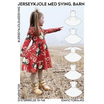 Jerseykjolen med sving - Barn