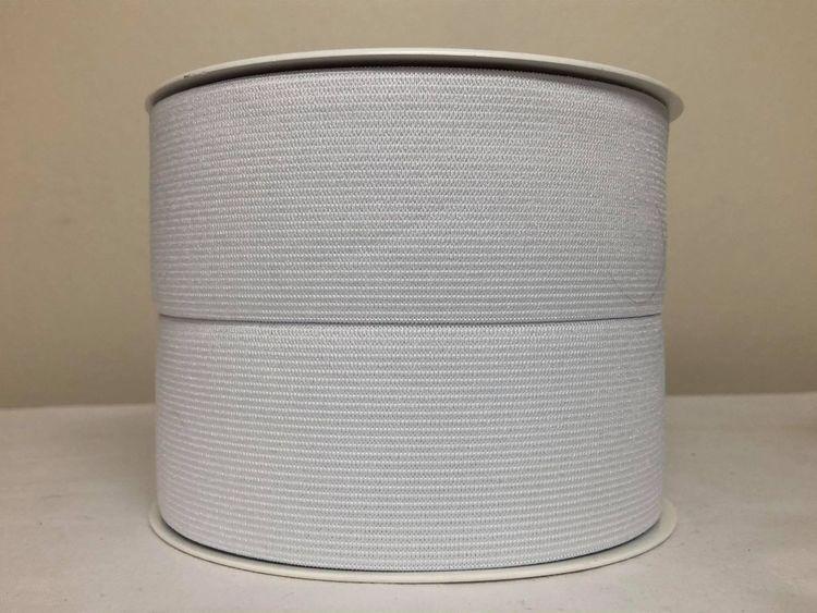 Elastikk - 50 mm - Hvit
