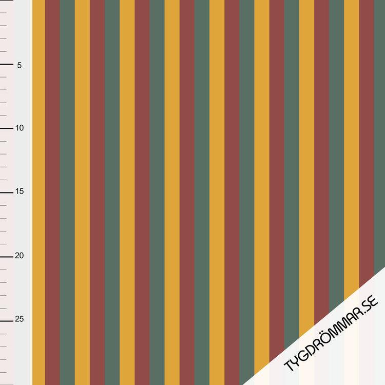 Rainbow Stripes - Dark Brick
