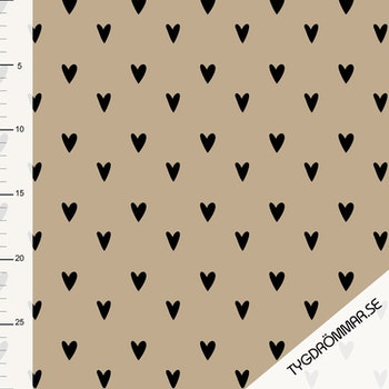 Hearts - Light Taupe