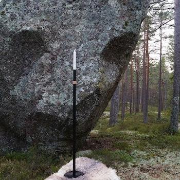 Handgjord Golvljusstake Svart Höge Herr'n 100cm