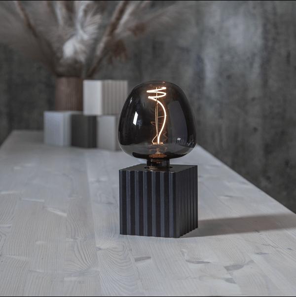 Lampfot Kub, svart, från Star trading