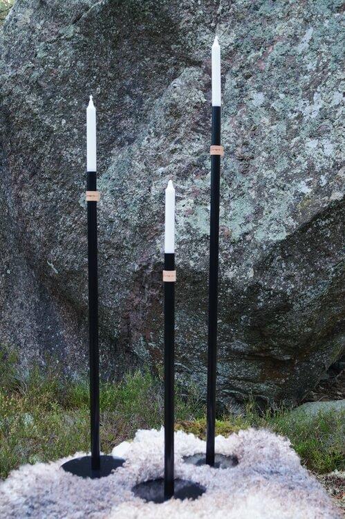 Handgjord Golvljusstake Höge Herr'n 100cm