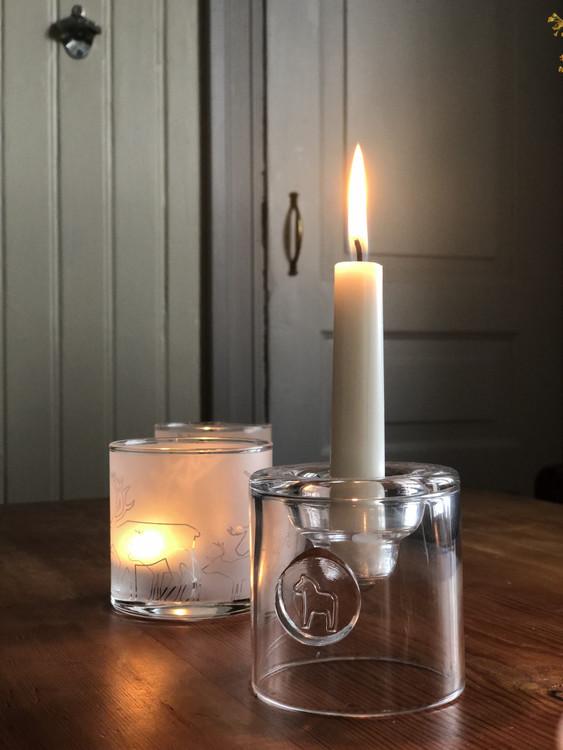Glas Ljuslykta Dalahäst från Anna Viktoria