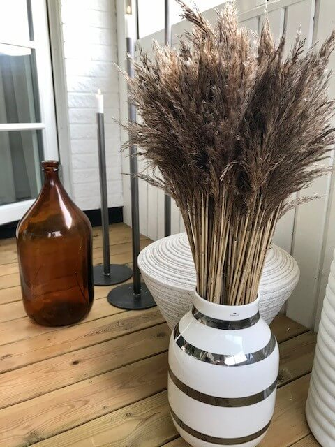 Torkade blommor vasstrån 60-cm inredning bladvass