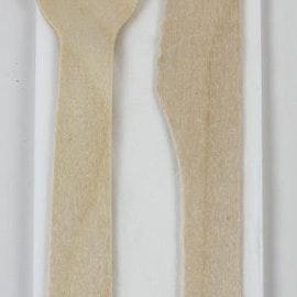 Bestick set kniv, gaffel & servett från Korgboet