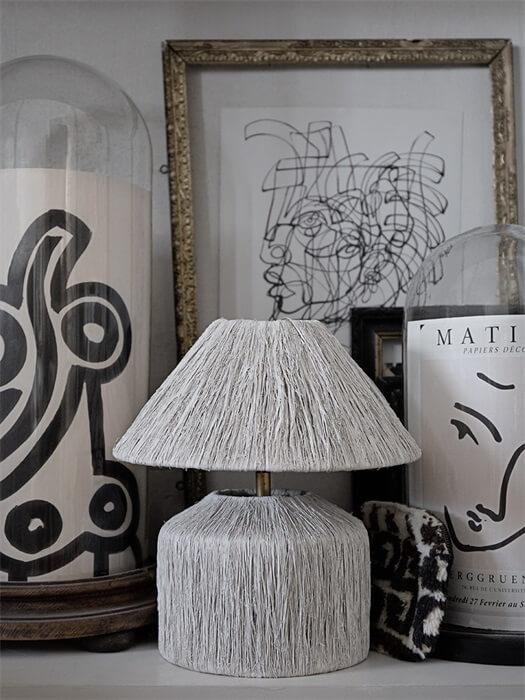 Olsson&jensen lampa bordslampa vit hailey inredning bananlöv