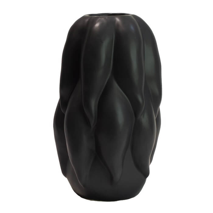 Olsson&jensen vas keramik svart 32cm ridley keramikvas