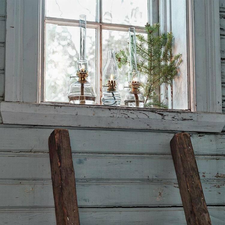 Fotogenlampa My mässing från Strömshaga