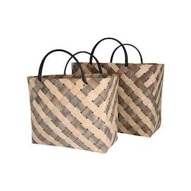 Flätad väska Rut från Strömshaga- 2 storlekar