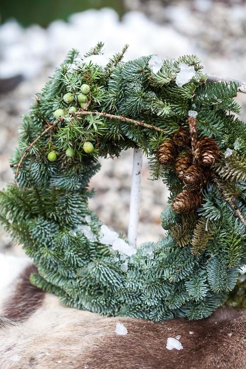 """Material till julkrans """"Natur"""""""
