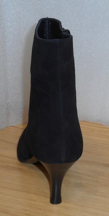 Svart, elegant mockaboots fabrikat Ferrerías