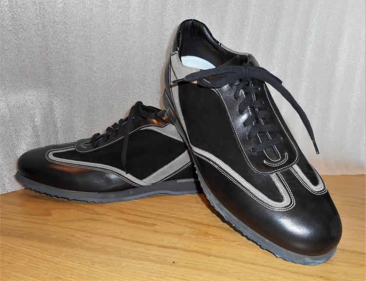 Sportig promenadsko i svart och grått - fabrikat Lancio