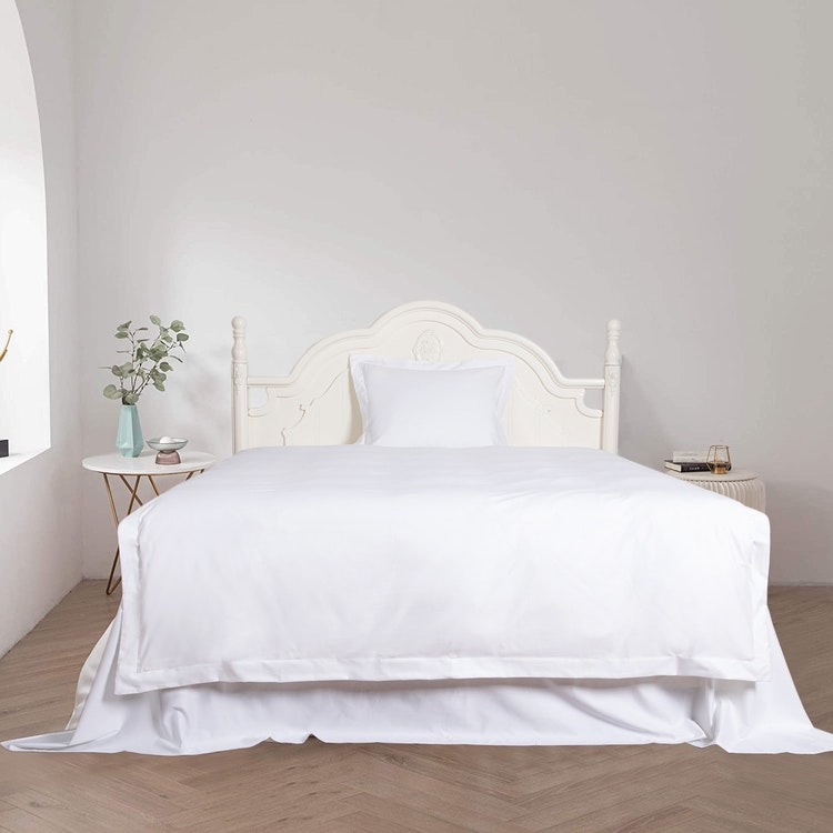 Exklusiva Påslakan & Örngott (Påslakanset) - Vitt - 100% Bambu - 150x210cm/50x60cm - 300TC