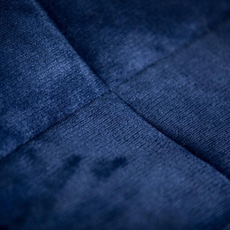 Exklusiv Tyngdfilt - 6kg - Fleece - 140x200cm - Marinblå