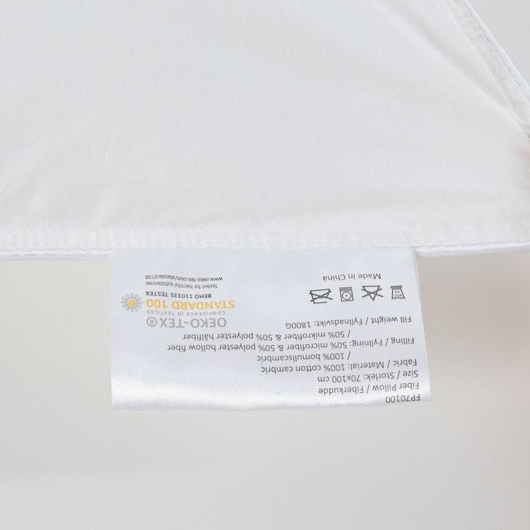 Exklusiv Hotellkudde - 70x100 cm - 233TC - Fiber - Bomull - 1800g