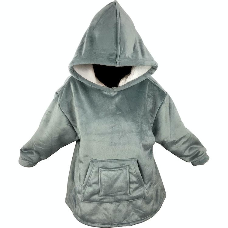 Snug Rug / Stor Hoodie Filt - Minky & Sherpa - Barn - One size - Grå