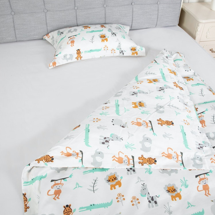 Påslakan & Örngott / Bäddset för Barn - 100x130 cm / 35x55 cm - Tryck - 205TC