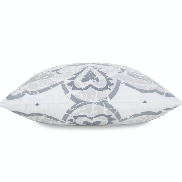 Kuddfodral 50x50 cm Vit med Grått Mönster