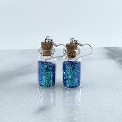 Ljusblått Glitter Örhängen