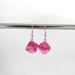 Rosa Tärningar Örhängen