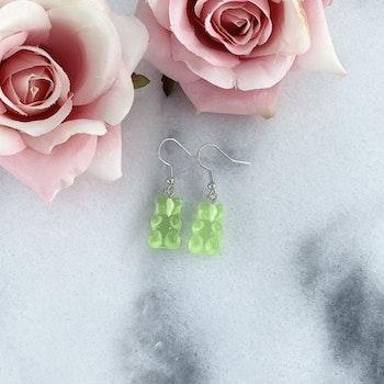 Örhängen Gummibjörn Grön