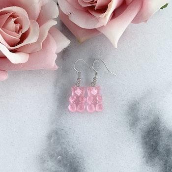 Örhängen Gummibjörn Rosa