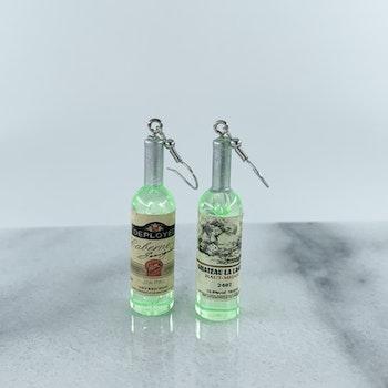 Gröna Örhängen Vinflaskor