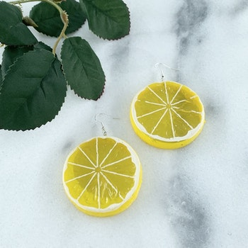 Citronskiva Örhängen