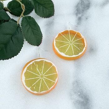 Apelsinskiva Örhänge