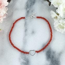 Halsband Röd Hjärta