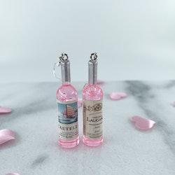 Rosa Vinflaska Örhänge
