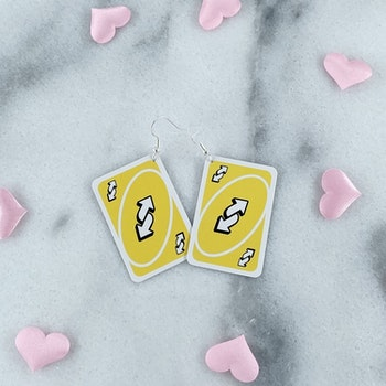 Gula Reverse Card Örhängen
