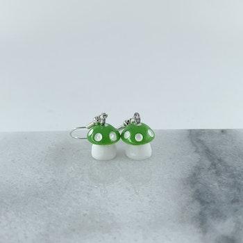 Svamp Örhänge Grön
